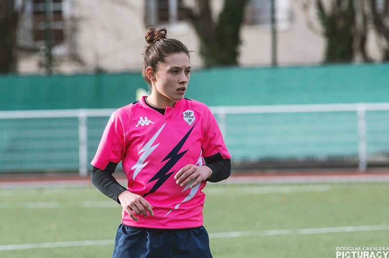 Andréa Marcial sous les couleurs du Stade Français Paris