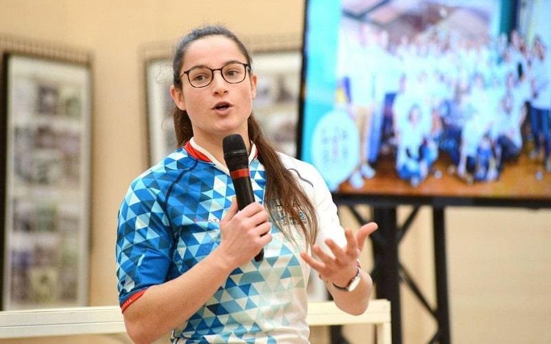 Laura di Muzio pendant une conférence LJA Sports