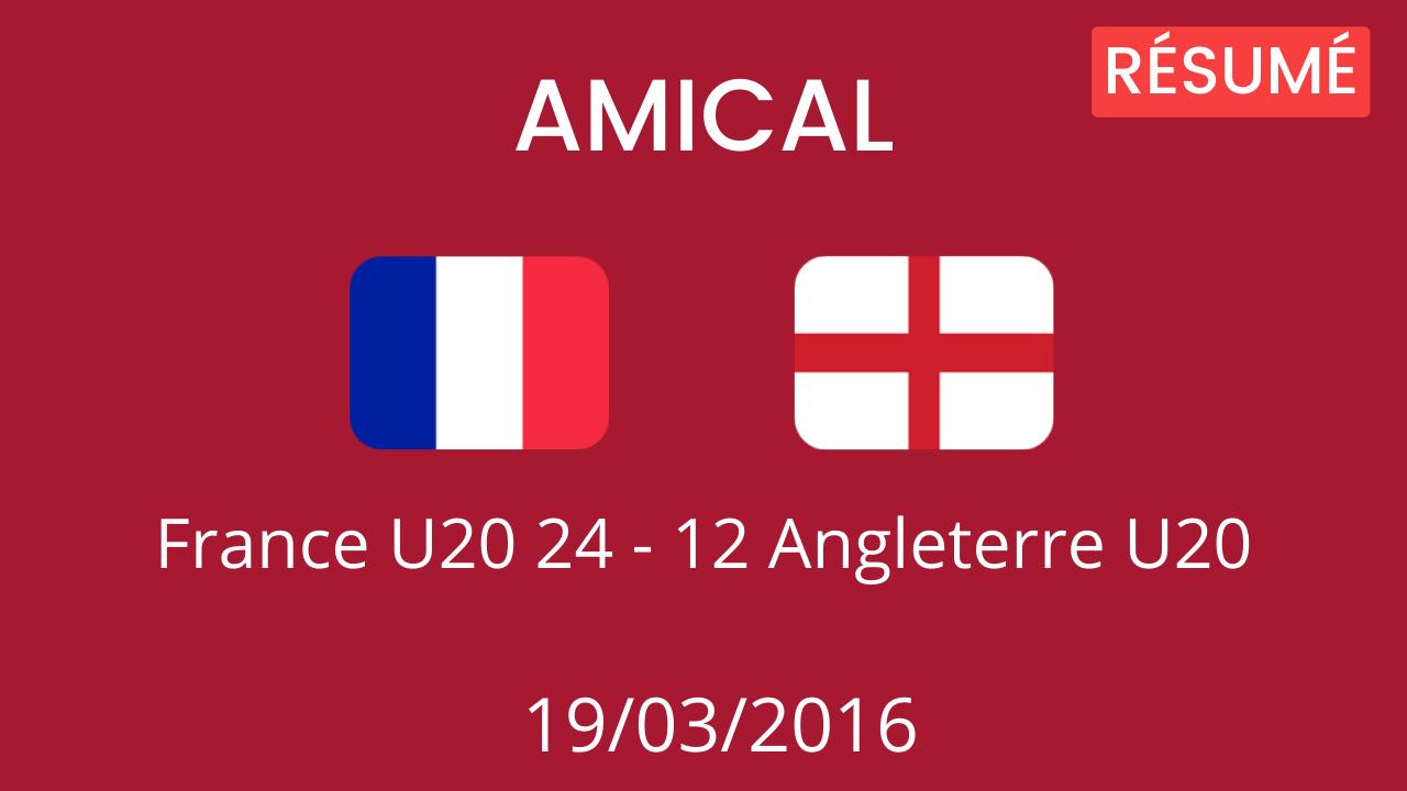 Angleterre U20 2016