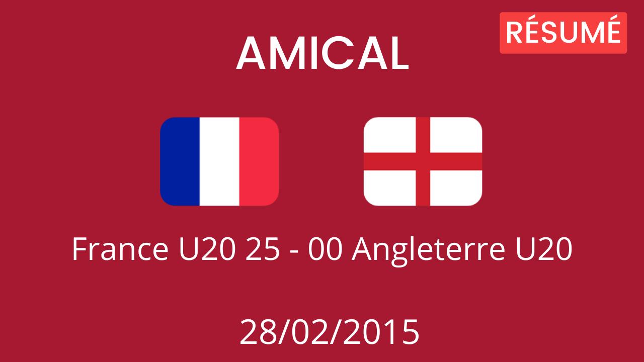 Angleterre U20 2015