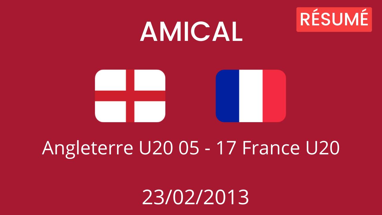Angleterre U20 2013