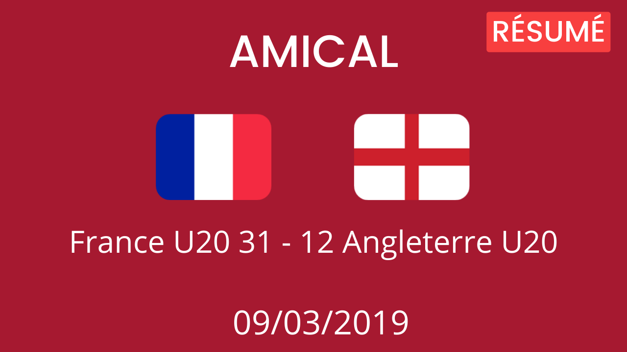 Angleterre U20 2019